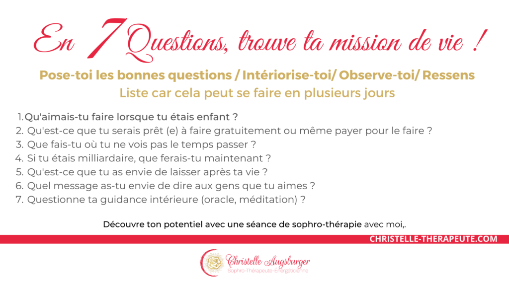 7 questions pour trouver sa mission de vie